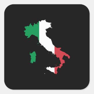 Italia en colores italianos pegatina cuadrada