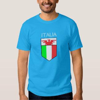 Italia - escudo italiano con la camisa de Eagle