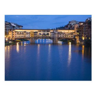 Italia, Florencia, reflexiones de la noche en Tarjeta Postal