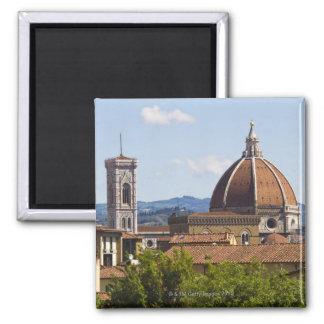 Italia, Florencia, vista de la catedral de Florenc Imán Cuadrado