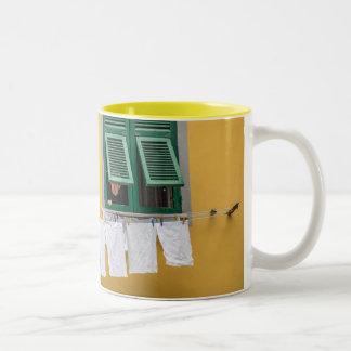 Italia mia taza de café de dos colores