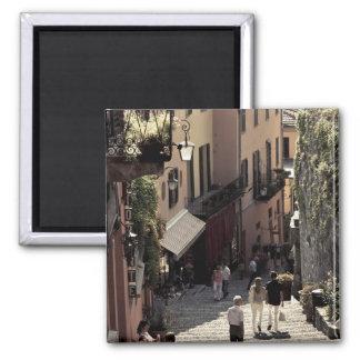Italia, provincia de Como, Bellagio. Salita 2 Imán Cuadrado