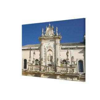 Italia, Puglia, Lecce, Piazza del Duomo, Palazzo Lona Estirada Galerias