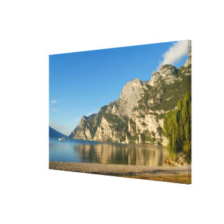 Italia, Riva del Garda, lago Garda, soporte Lienzo Envuelto Para Galerias