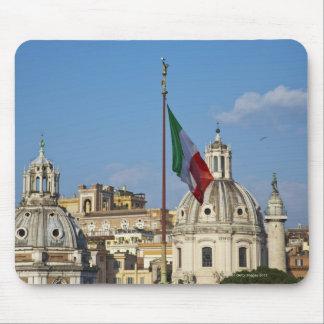 Italia, Roma. Bandera italiana Alfombrilla De Ratón