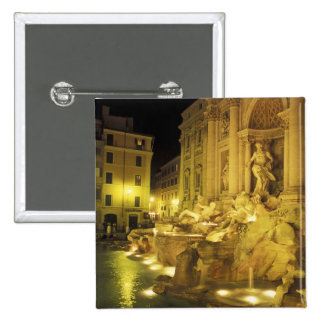 Italia, Roma. Fuente del Trevi en la noche Chapa Cuadrada
