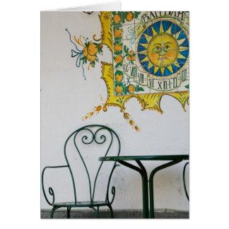 ITALIA, Sicilia, TAORMINA: Bam, detalle del café d Tarjeta De Felicitación