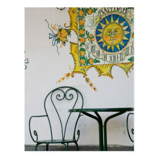 ITALIA, Sicilia, TAORMINA: Bam, detalle del café Postal