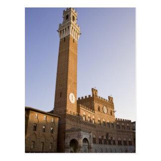 Italia, Toscana, tierra de Siena. Torre del Mangia Postal