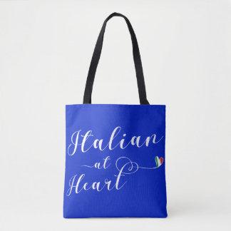 Italiano en el bolso de ultramarinos del corazón,