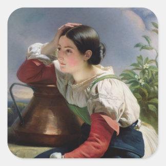 Italiano joven en bien, c.1833-34 calcomanías cuadradass