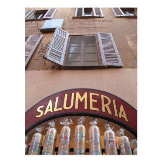 ~ italiano Salumeria de la tienda de delicatessen Postal