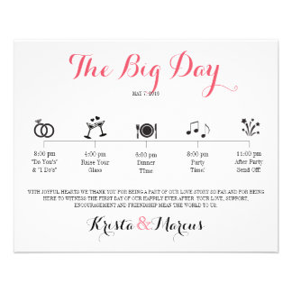 Itinerario del boda del icono - boda del destino folleto 11,4 x 14,2 cm