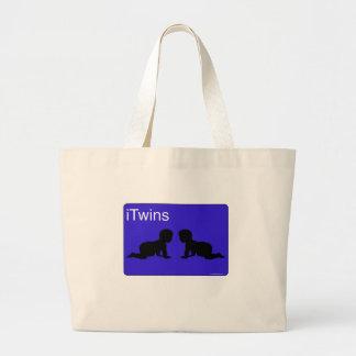 iTwins azules Bolsas De Mano