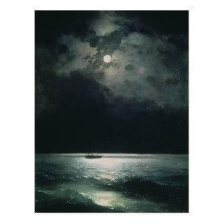 Ivan Aivazovsky- el Mar Negro en la noche Postal
