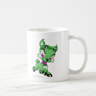Ixi verde taza básica blanca