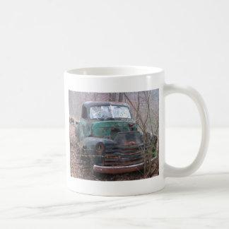 Izquierda detrás taza de café