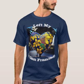 Izquierda mi corazón en camiseta de la foto de San
