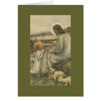 j-2 Jesús con el niño Tarjeta