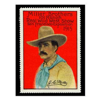 J.C. Miller de la tarjeta del sello del poster de