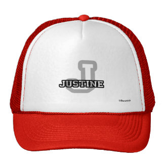 J está para Justine Gorro De Camionero