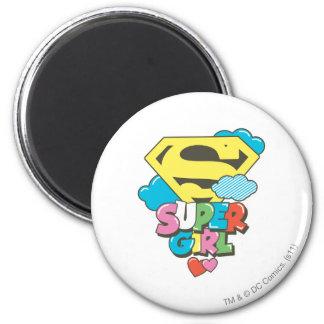 J-Estallido 5 de Supergirl Imán Redondo 5 Cm