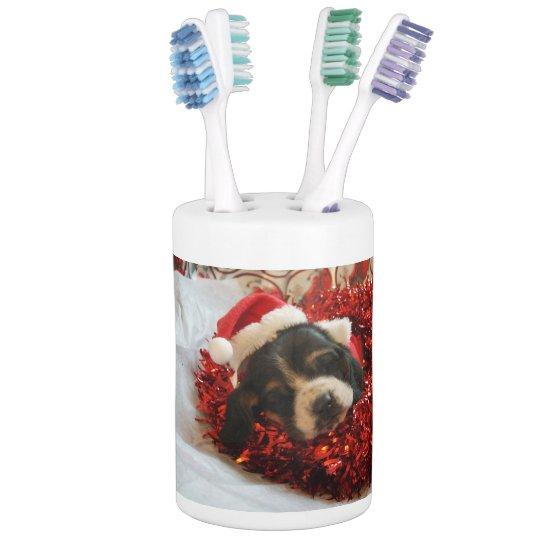 Jabón del perro de afloramiento y tenedor del set de baño