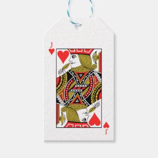Jack de corazones etiquetas para regalos