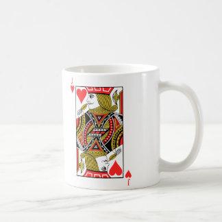 Jack de corazones taza de café