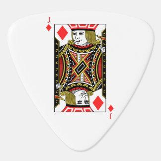 Jack de diamantes púa de guitarra