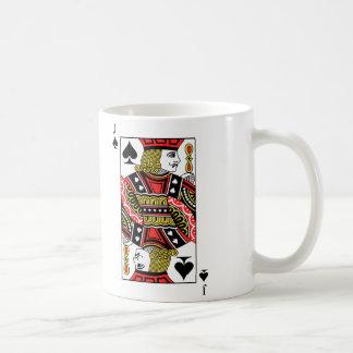 Jack de espadas taza de café