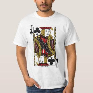 Jack del naipe de los clubs camiseta