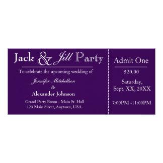 Jack púrpura e invitación del boleto de la ducha