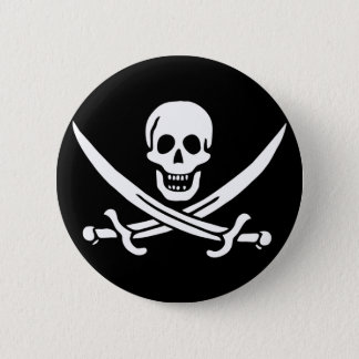 Jack Rackham; Bandera alegre de Rogelio; Pirata Chapa Redonda De 5 Cm