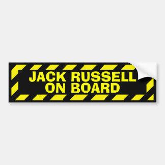 Jack Russell a bordo el pegatina amarillo de la