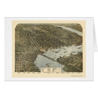 Jacksonville, FL - 1893 Tarjeta De Felicitación