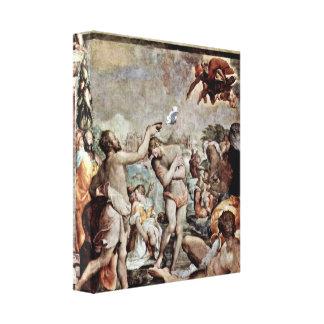 Jacopo del Conte - el bautismo de Cristo Impresión En Lienzo Estirada