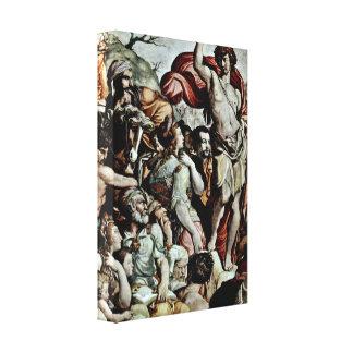 Jacopo del Conte - predicación de San Juan Bautist Impresiones De Lienzo