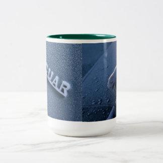 Jaguar escarchado taza de café de dos colores