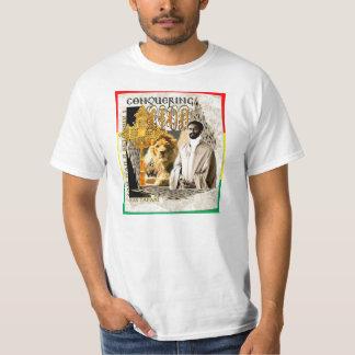 Jah Rastafari - conquista del león Camisas
