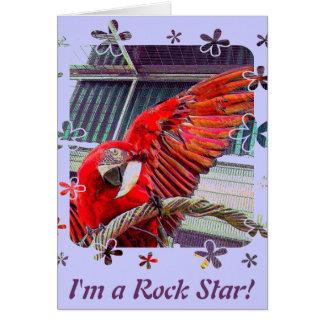 Jake la estrella del rock tarjeta de felicitación