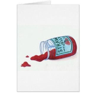 Jalea de la fresa tarjeta de felicitación