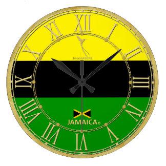 Jamaica colorea el reloj moderno de los números