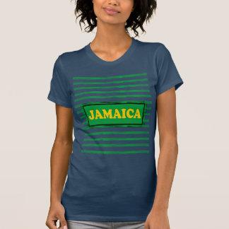 Jamaica colorea la camiseta moderna de la onda