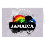 Jamaica con sabor a fruta linda tarjeton