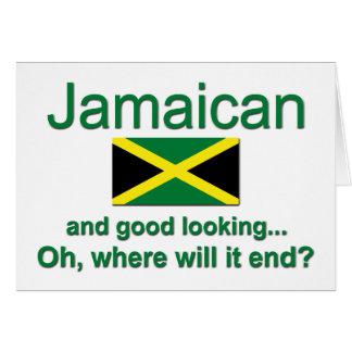 Jamaicano apuesto tarjeta de felicitación
