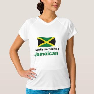 Jamaicano feliz casada camiseta