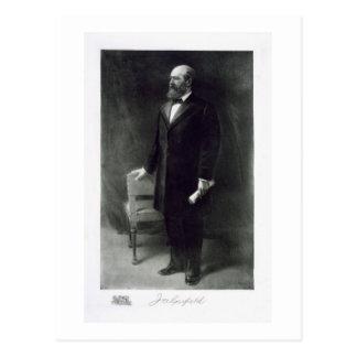 James A. Garfield, vigésimo presidente del St unid Tarjetas Postales