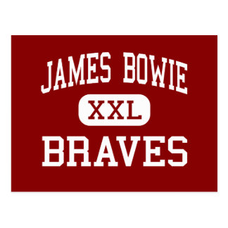 James Bowie - Braves - centro - Amarillo Tejas Postal