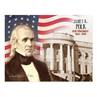 James K. Polk - 11mo presidente de los E.E.U.U. Postal